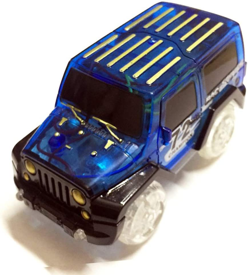 LED Light up Electric Mini Race Car Truck Magic Track Kids Toy Christmas Gift Classic Toys for Baby Children Toddlers Boys /& Girls Blue Anniston Kids Toys