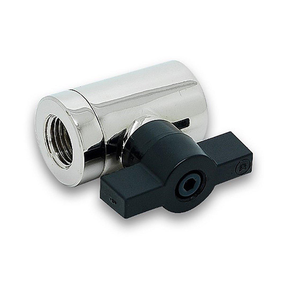 "EKWB EK-AF G1/4"" 10mm Ball Valve, Nickel"