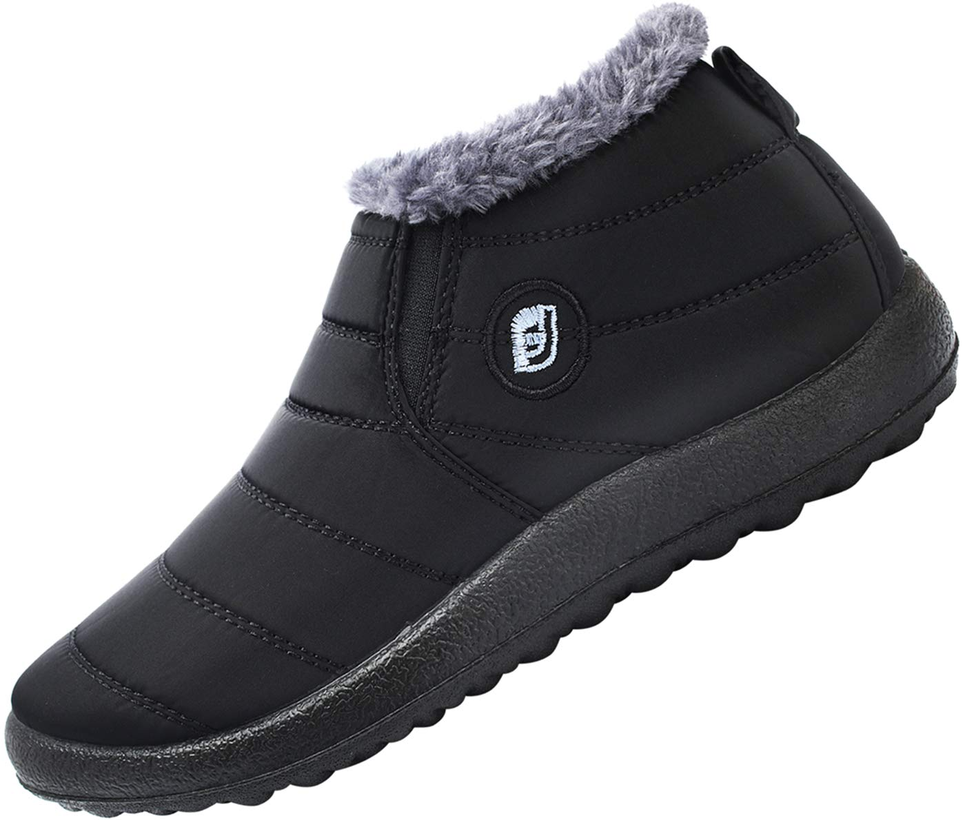 FEETCITY Mens Snow Boots Women Winter Anti-Slip Ankle