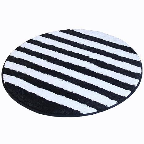Amazon.com: Alfombra LILISHANGPU redonda, alfombra negra y ...