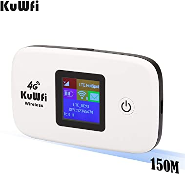 Amazon.com: 4 G Router Inalámbrico con tarjeta SIM, kuwfi ...