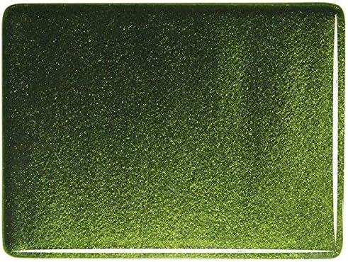 Light Aventurine Green Transparent Coarse Fusible Glass Frit 8oz Made from Bullseye Glass 90COE