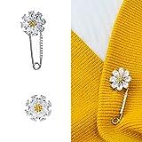 Joyci 1Piece Mini Exquisite Women's Brooch Pins Cardigan Pins Brooch Girl Flower Collar Button Diamond Herb Jewelry (Flower Pin)