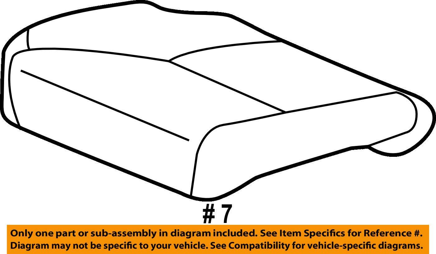Left Honda Genuine 81531-T3V-A11ZA Seat Cushion Trim Cover Front