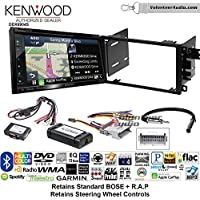 Kenwood Excelon DNX694S Double Din Radio Install Kit with GPS Navigation System Android Auto Apple CarPlay Fits 2003-2005 Chevrolet Blazer, 2003-2006 Silverado, Suburban (Bose and SWC)