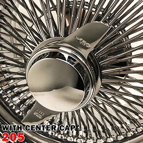 (1PCS 14x7 Stand 100 Spokes Chrome Wire Wheels Straight Lace Deep Dish Rims (205,)