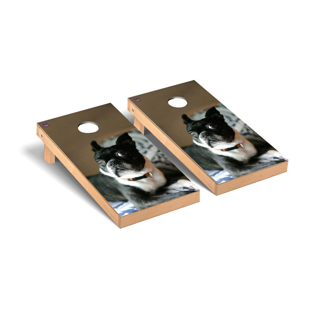 Boston Terrier Dog Themed Cornhole Game Set by Victory Tailgate