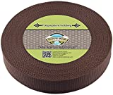 Country Brook Design 1 1/2 Inch Umber Brown Heavy Polypro Webbing, 50 Yards