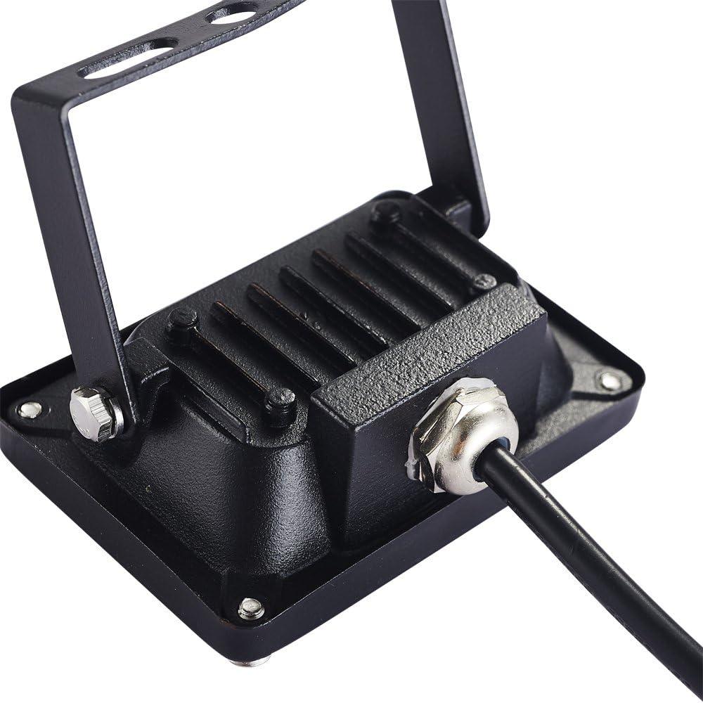 Molie Super Qualität 10W 20W 30W 50W 100W 150W 200W 300W 500W Warmweiß LED Strahler LED Wandstrahler Lampe Außenstrahler Aluminium Flutlicht Fluter IP65 220V(200W) 10w