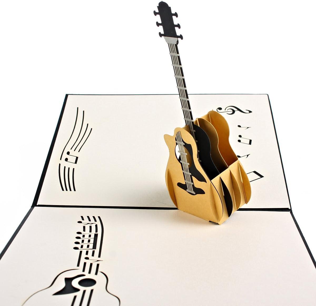 Personalizado Pop Up Tarjeta de felicitación Kit – Guitarra ...