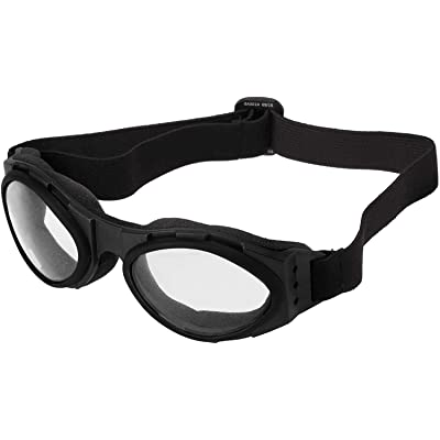 Bobster BA001C Bugeye Goggles, Black Frame/Clear Lens: Clothing