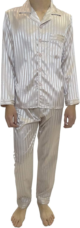 Gentleman Pyjama Sateen Stripped Classic Buttons//Mens Sleepwear Mini kitten