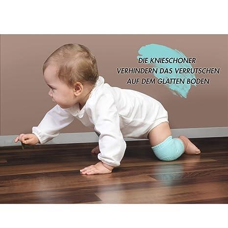 Gitua 4 Paar Baby Krabbeln Knieschoner Anti-Rutsch Elastische Baby Kniesch/ützer mit Gummipunkte f/ür 0-24 Monate Jungen und M/ädchen