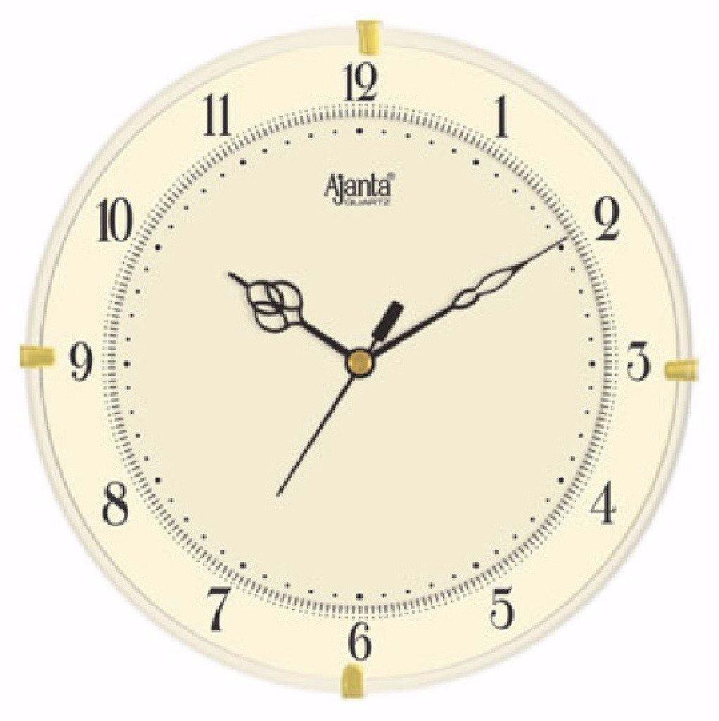 Buy ajanta quartz round plastic wall clock 28 cm x 35 cm x 28 cm buy ajanta quartz round plastic wall clock 28 cm x 35 cm x 28 cm ivory online at low prices in india amazon amipublicfo Images