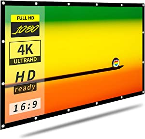 16:9 HD 120 inch Foldable Projector Screen for Home Backyard Theater Outdoor Indoor |Anti-Crease Portable Projector Movies Screen Support Double Sided Projection(Rear Projection Screen)