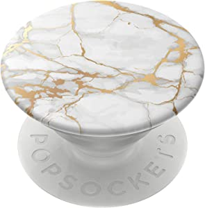 PopSockets: PopGrip with Swappable Top for Phones and Tablets - Gold Lutz Marble