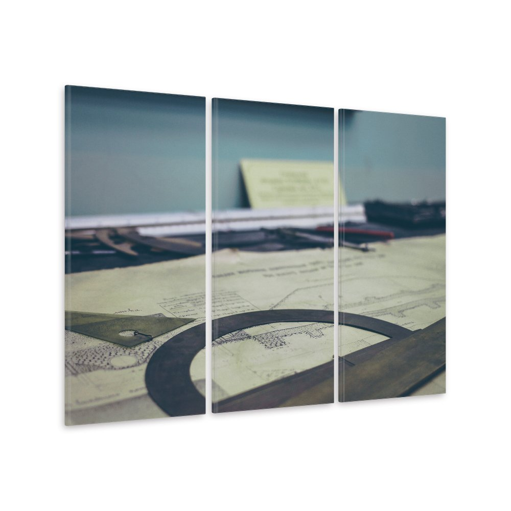 malango® Leinwandbild - Architekt (3-teilig) 160 x 100 cm