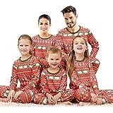 Qunisy Family Matching Christmas Pajamas Set Pyjamas Xmas Sleepwear Holiday Pjs Polar Bear