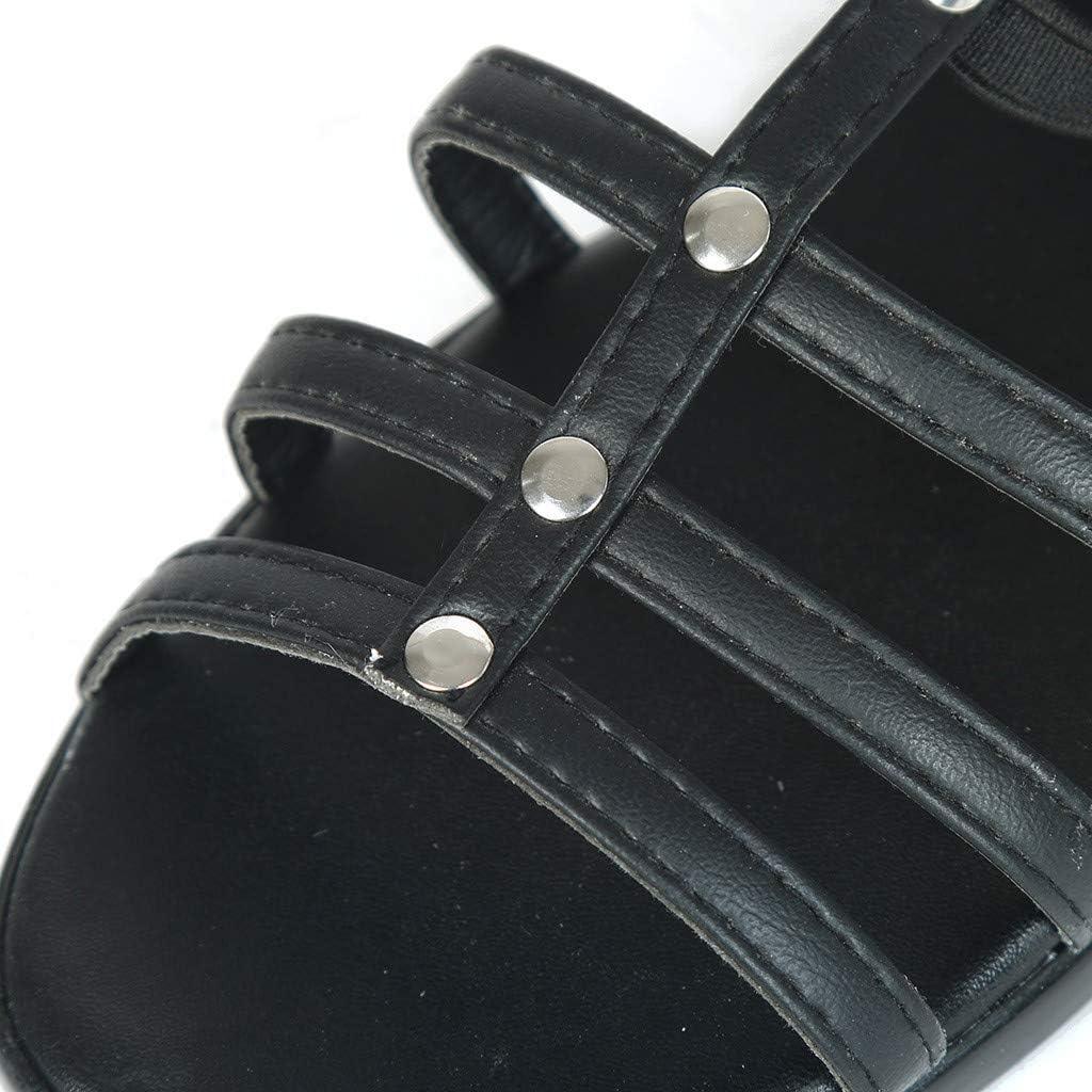 Darringls_Sandalias para Mujer,Mujer Sandalia de tacón Moda Correa ...