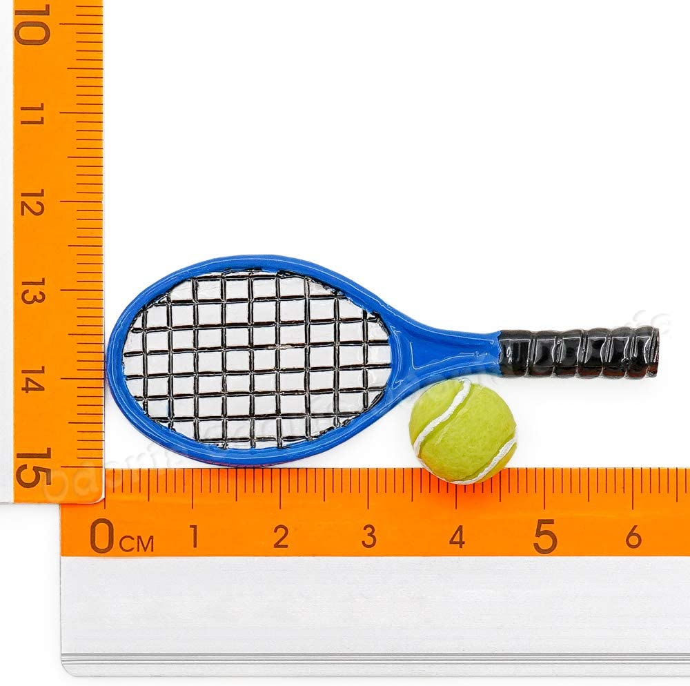 1:12 Scale Mini Tennis Racket Miniatures Dollhouse Accessories L0D Decor A7E0
