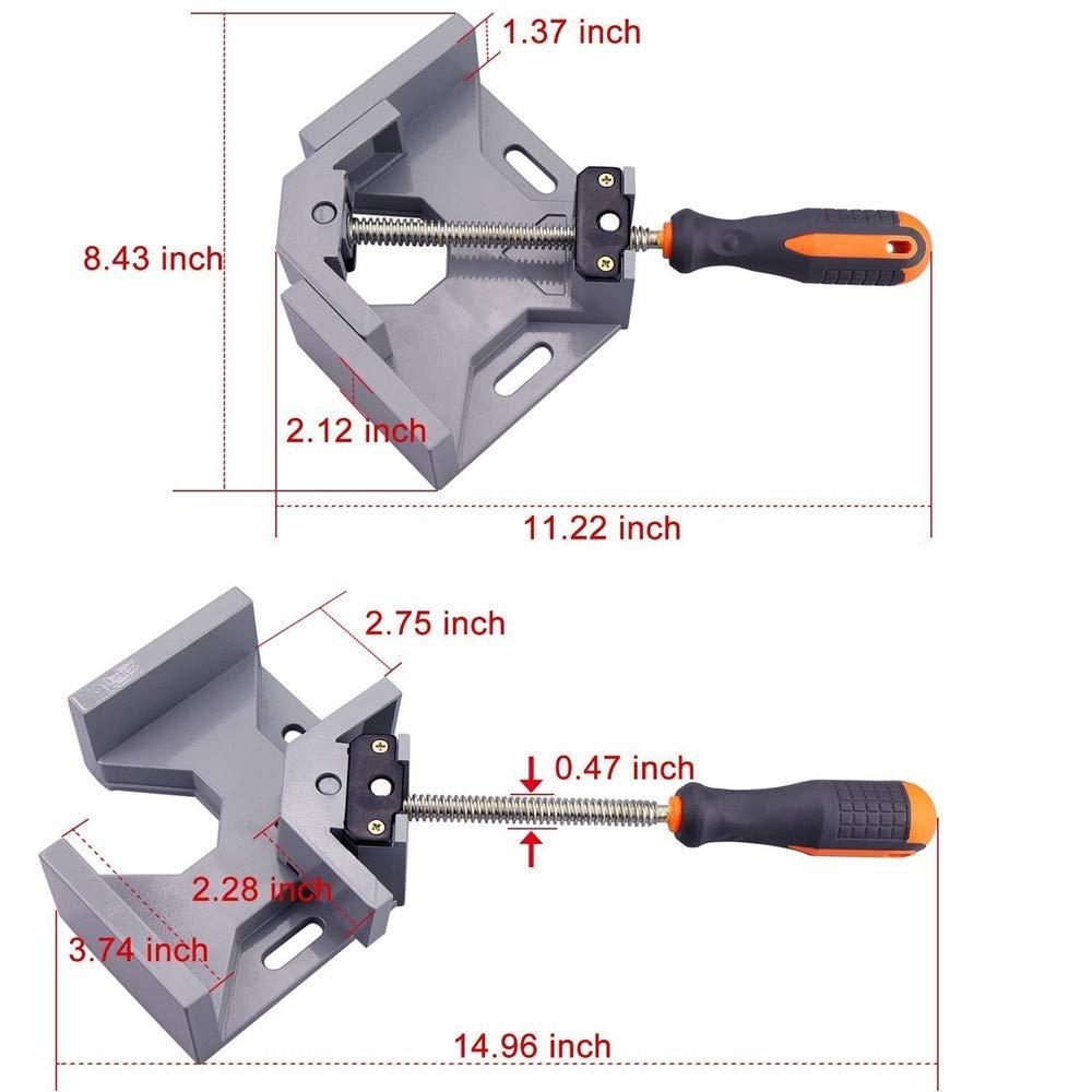 Pince /à angle droit Meiyaa /à 90 degr/és avec corps en alliage daluminium outil pour le travail du bois m/âchoire pivotante r/églable