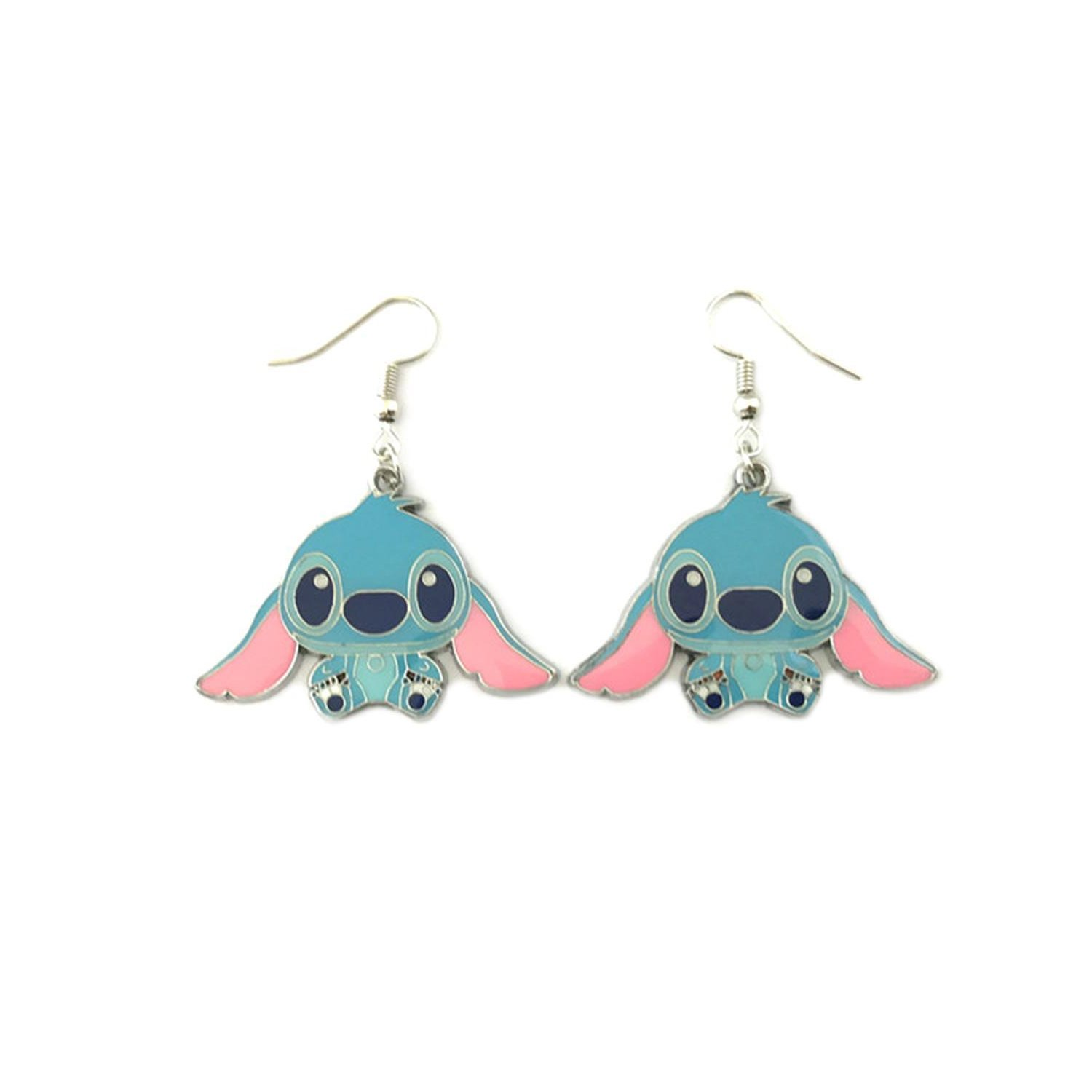 Stitch Experiment 626 Lilo & Stitch Drop Earrings With Gift Box from Outlander Gear