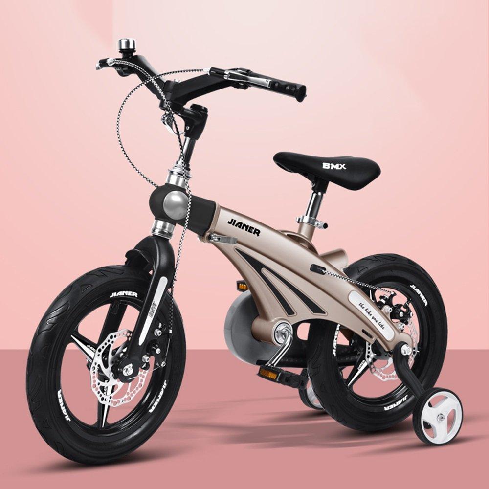 美しい 家スケーラブルな子供用自転車、3歳のベビーカー、子供用自転車、自転車、マウンテンバイク (色 : ゴールド, サイズ さいず : 98*38*76cm) B07CXFTT8W 98*38*76cm ゴールド ゴールド 98*38*76cm