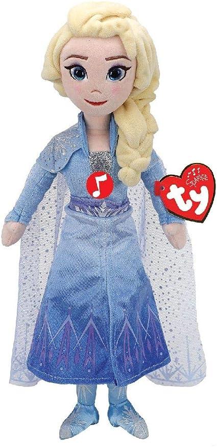 "Disney Frozen 2 TY Princess ANNA /& Queen ELSA 16/"" Beanie Plush Dools Set NEW"