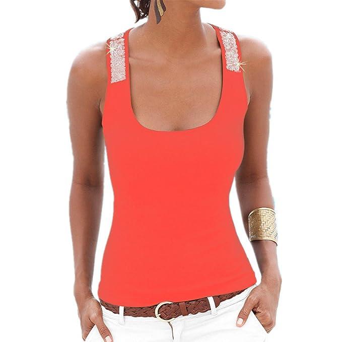 Fanessy Camisas - Animal Print - para Mujer Naranja Small