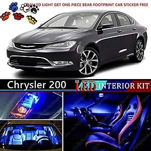 14pcs led premium blue light interior package deal for 2015 2016 chrysler 200 for 2016 chrysler 200 interior lights