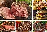Chicago Steak Angus Steak Set - Have a Taste of Prime Beef! - Gourmet Food Sampler - 8 Cuts/16 Burger Patties - Includes Filet Mignon Steaks, Sirloin, Ribeye, Flat Iron Steak, Marinated Chicken