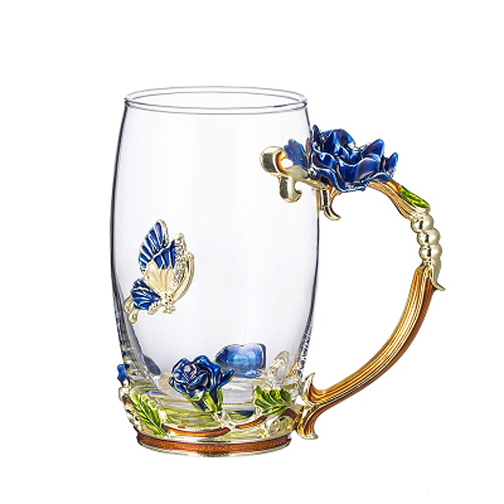 2018 New Birthday Best Friend Wedding Anniversary Presents Unique Gifts for Women Mom Her Girls Grandma (Blue Rose Tall)