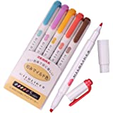 Zebra Mildliner Soft Color Double-Sided Highlighter Pens Deep, Warm & Cool (Yellow Pack)
