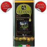 5 Litri Olio Extravergine d'Oliva 100% Italiano   Frantoio Fierro   Tracciabilità UNASCO Lotto di Produzione   Confezione in Latta Salvaspazio   Estratto a Freddo   Idea Regalo