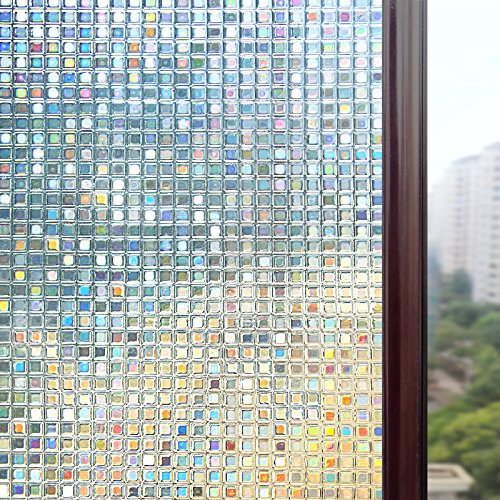 Rabbitgoo 23.6in. by 78.7in. (60 by 200Cm) Premium No-glue 3d Static Decorative Privacy Window Films