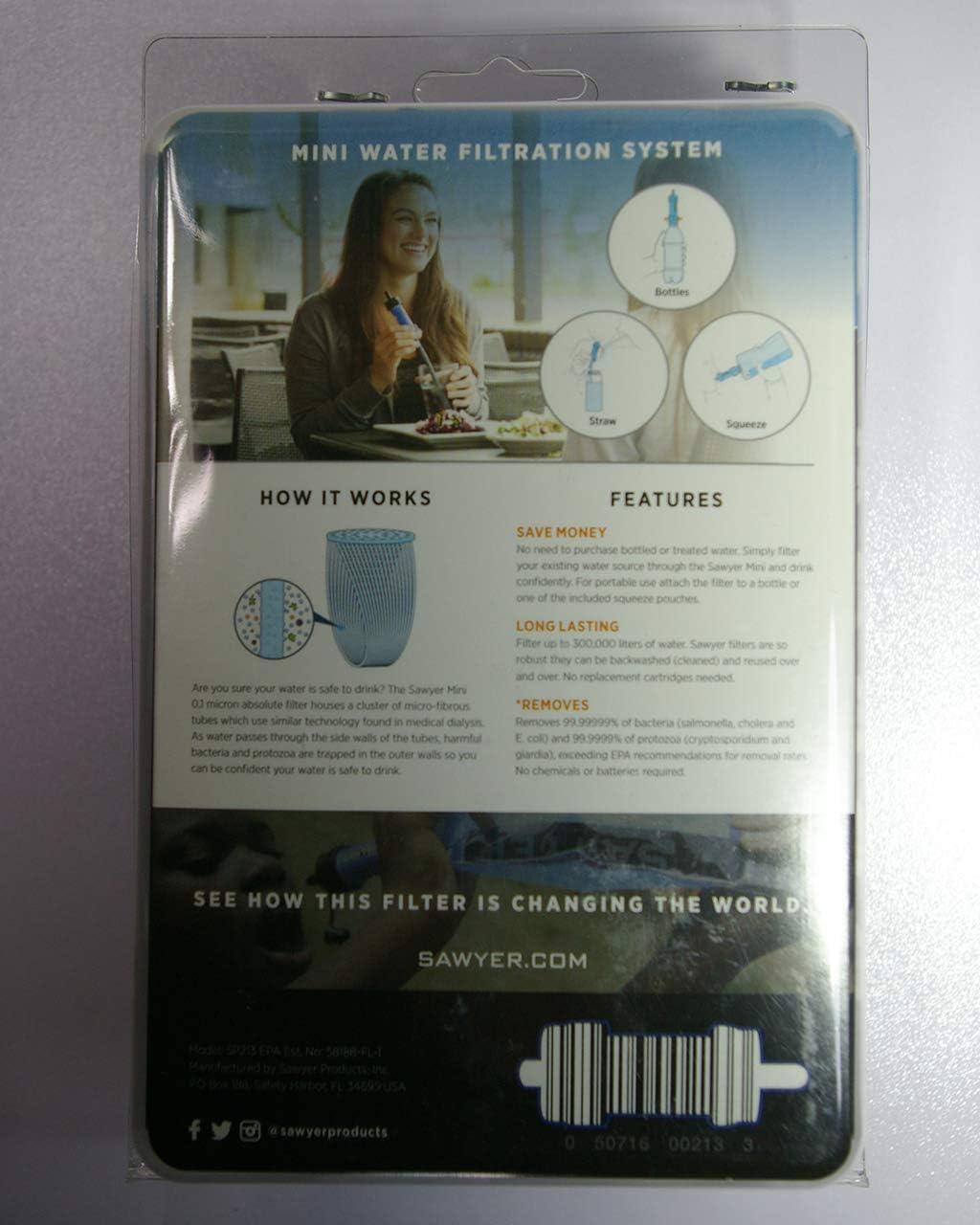 Mini Kit per Bere Filtrazione dellAcqua Esterna Compatta Sistema di Filtraggio dellAcqua Portatile. Emergenza Trekking Trekking JWD Sistema di Purificazione dellAcqua