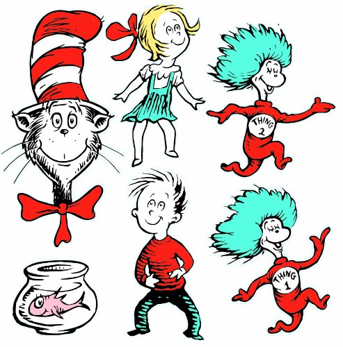 Eureka Back to School Dr. Seuss The Cat in The Hat Classroom Decorations for Teachers, 6pc -