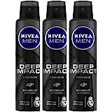 Nivea Men Deep Impact Freshness Deodorant Spray - For Men, 150 ml (Pack of 3)