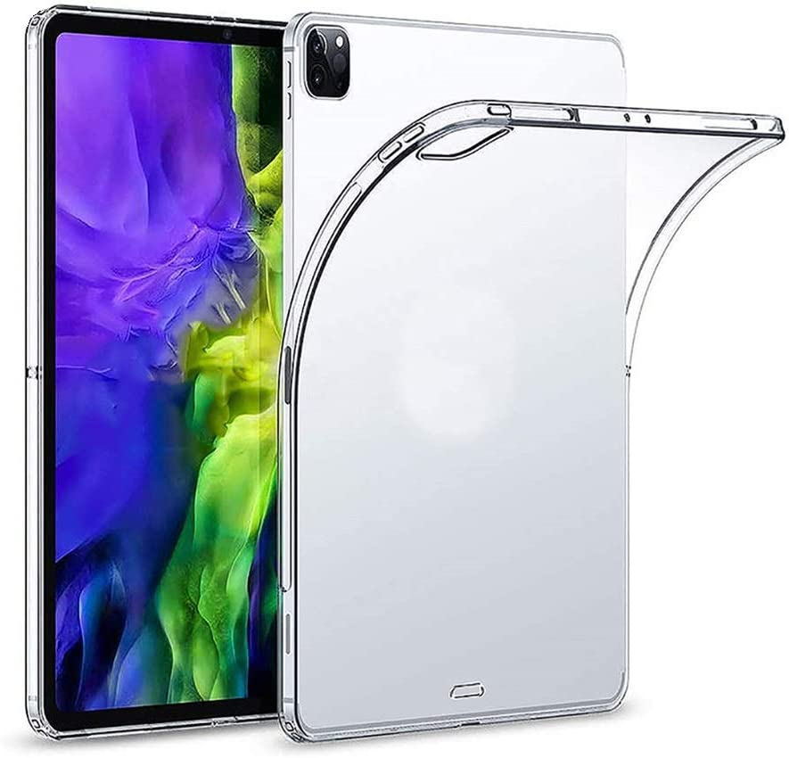 Transparent Protective case for ipad pro 2020 12.9 inch Clear Silicone case for ipad pro Support Wireless Charging for The Apple Pencil