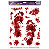 Beistle Bloody Footprints Peel 'N Place, 12-Inch x 17-Inch Sheet