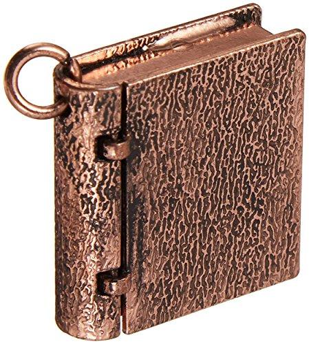 Book Locket (Solid Oak STEAM172 Steampunk Book Locket Metal Pendant (1 Pack))