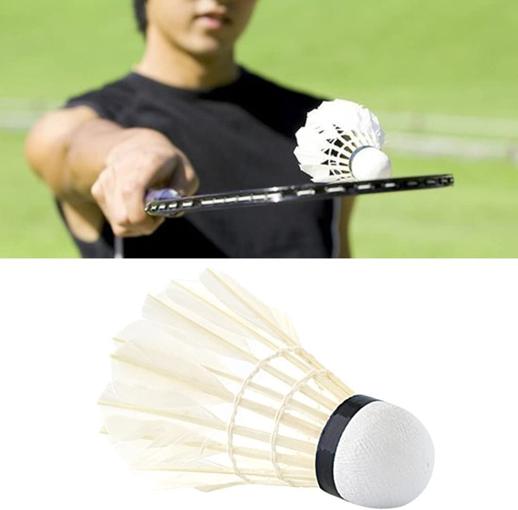 Set pour Le Volant de Jeu de Concurrence pour Le Tournoi de Sports en Plein air dint/érieur Sunnyday Ensemble Professionnel de Badminton 6pcs