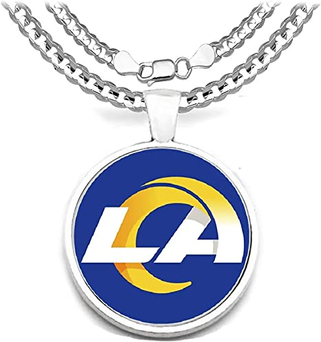 Devastating Designs Los Angeles Chargers 20 Fan Necklace 925 Sterling Silver Mens Womens