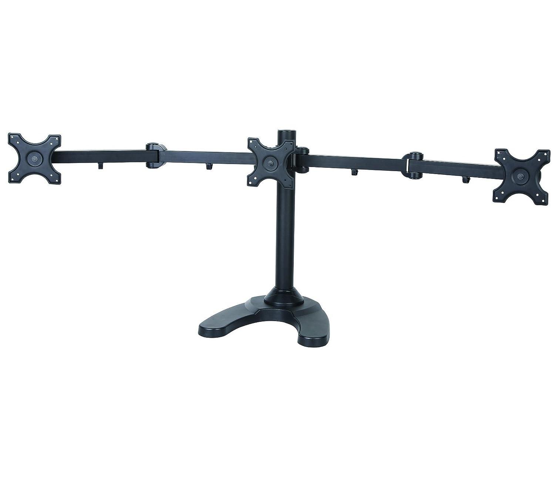 Amazon com vivo triple lcd monitor desk mount stand heavy duty fully - Amazon Com Vivo Triple Lcd Monitor Free Standing Desk Mount With Optional Bolt Through Mount Stand Heavy Duty Fully Adjustable Fits 3 Three Screens Up To