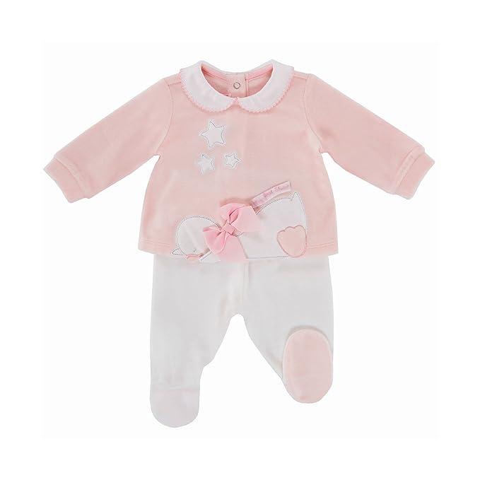 Chicco - Pijamas enteros - para bebé niña Rosa 56 cm