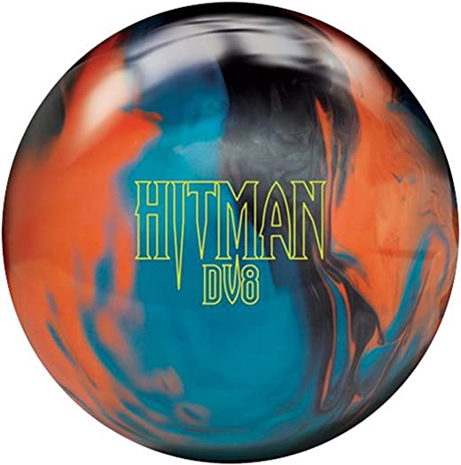 DV8 Hitman Bowling Ball- Black Orange Blue