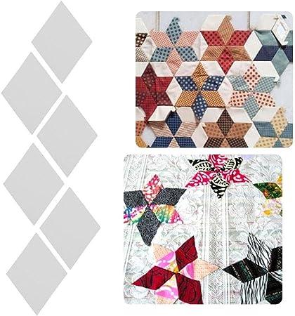 100 piezas de plantillas de papel para acolchar ropa, patchwork ...