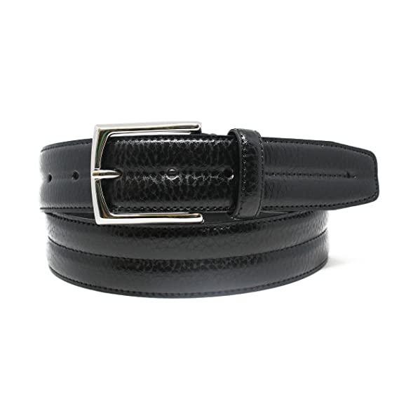 Riverside Park Mens Leather Belt 100/% Italian Leather Classic Design /& Pebbled Leather