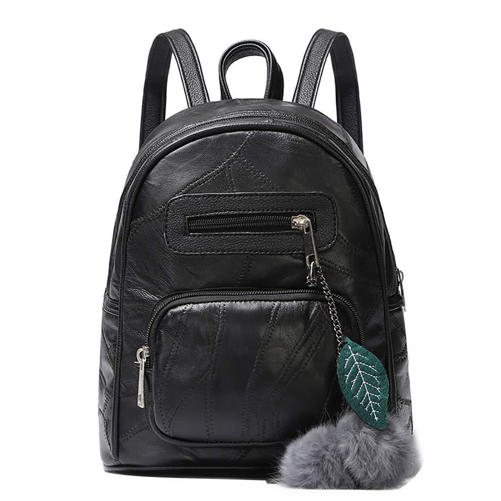 Wobuoke_Women bags レディース  ブラック B07M8TPCNN