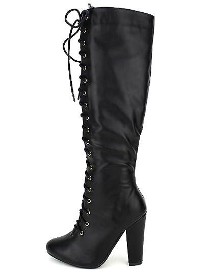 27de869a08c21 Cendriyon, Bottes Noires Simili Cuir C M Chaussures Femme Taille 36 ...